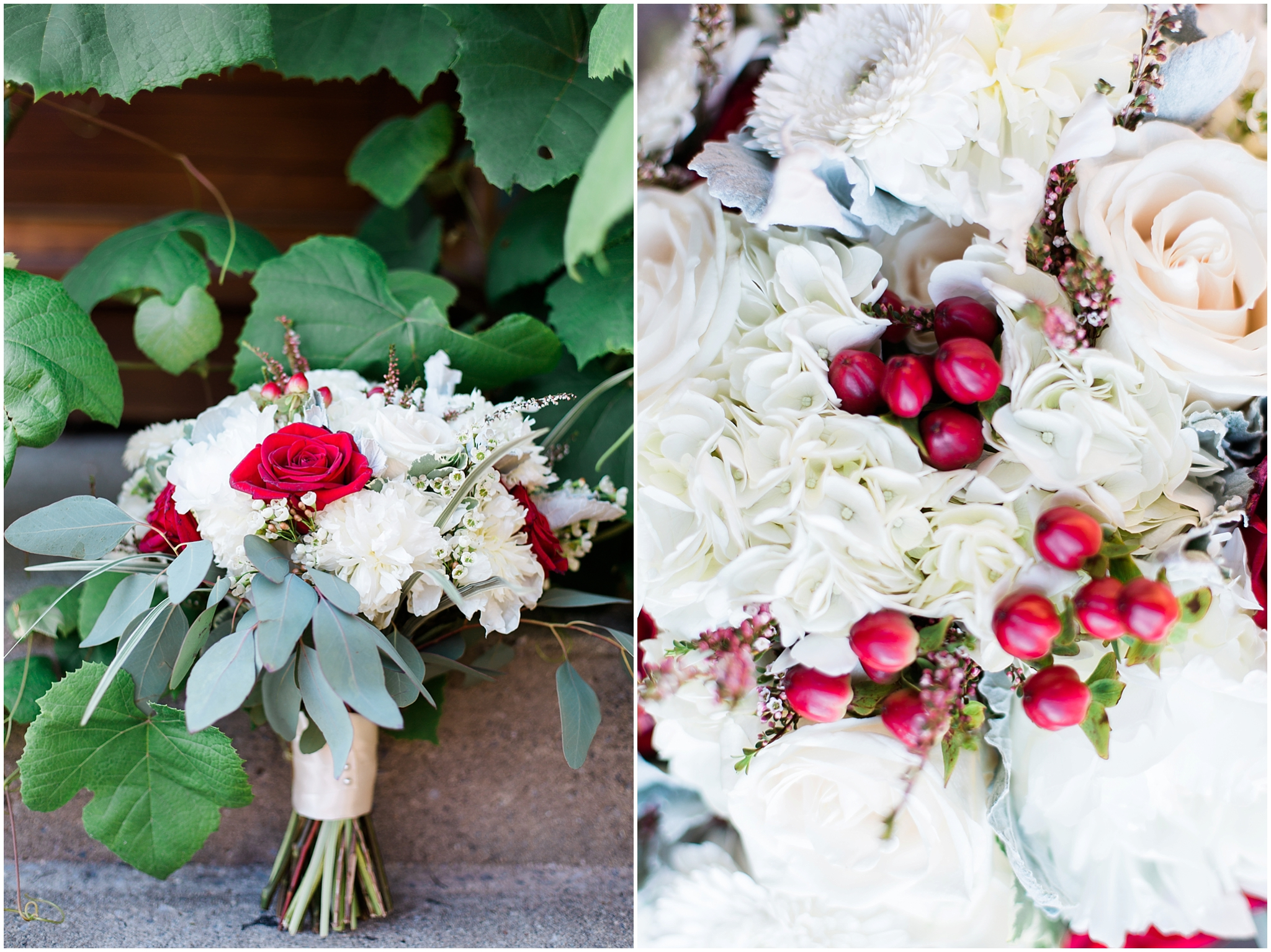 bed and breakfast wedding bouquet