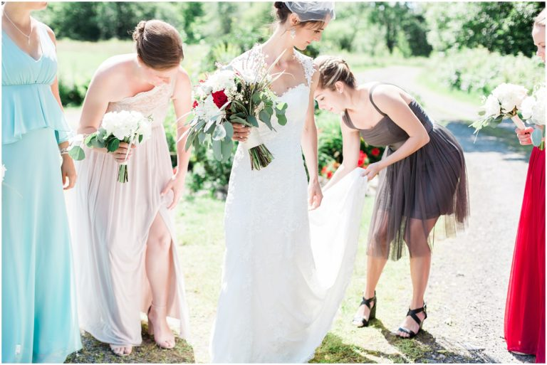 bed breakfast wedding bridesmaids