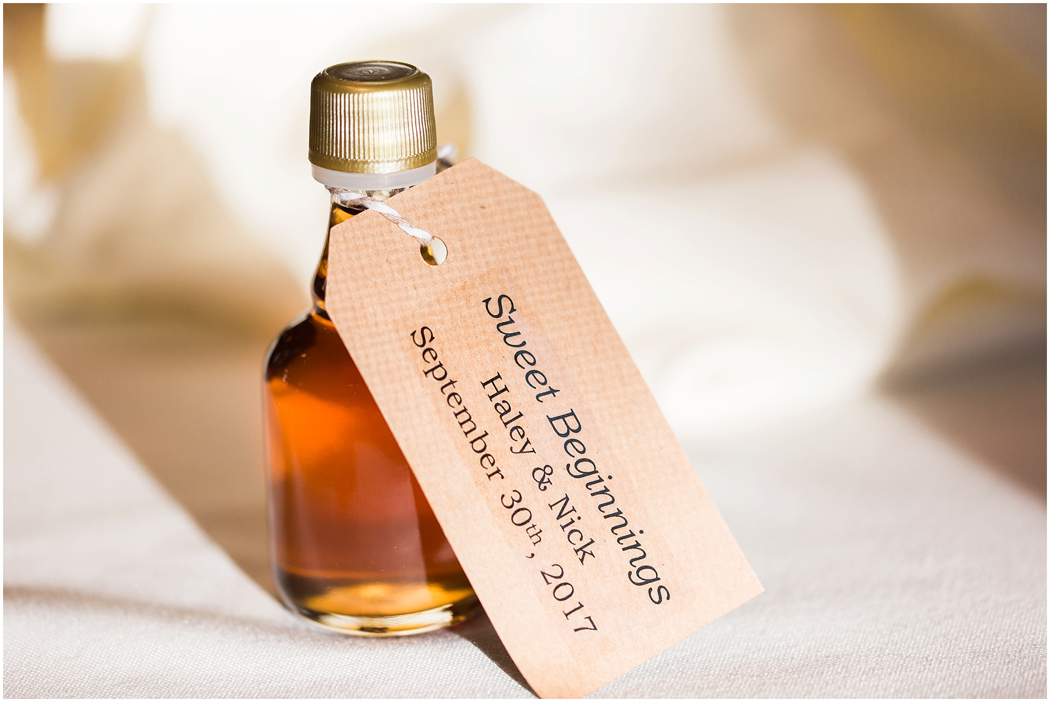 Wedding favours: Ennis Maple Syrup