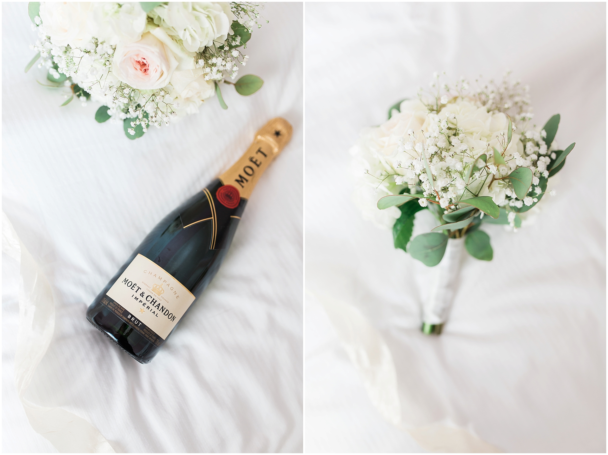 Romantic Montreal flowers and champagne